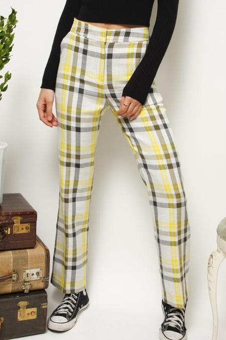 Current Air Roller Girl Plaid Trousers