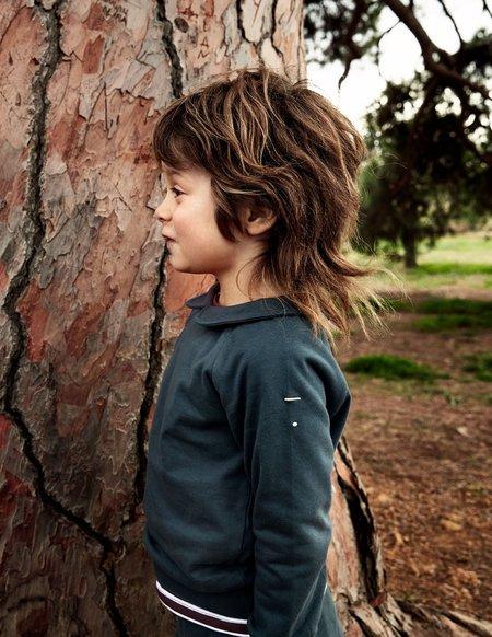 Kids Gray Label Organic Collar Sweater