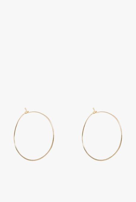 Circadian Studios Small Floating Hoop Earrings - Gold