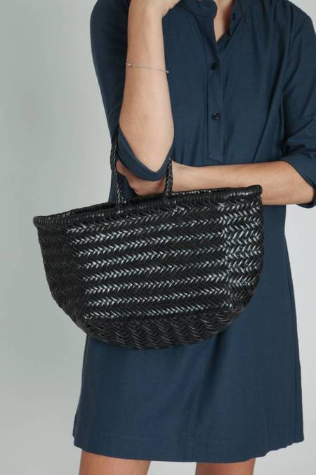 Dragon Diffusion Bamboo Triple Jump Small Bag - Black