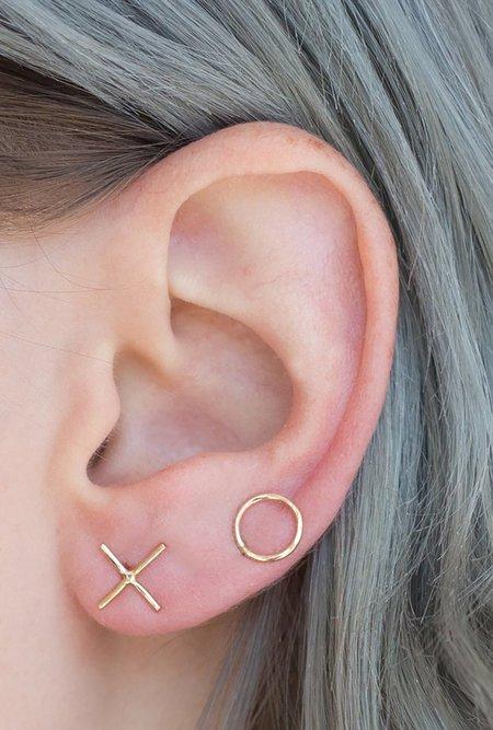 One Six Five XO Earrings - 14k Gold