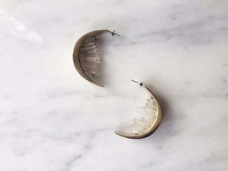 Entropy Quantum Crescent Earrings