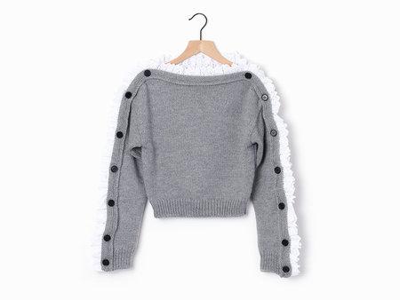 Philosophy di Lorenzo Serafini Button Sweater - Grey