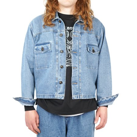 SECOND/LAYER DENIM TRUCKER JACKET - STONE WASH INDIGO