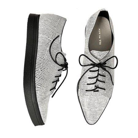 ALL BLACK Cas Tex Shoe - WHITE