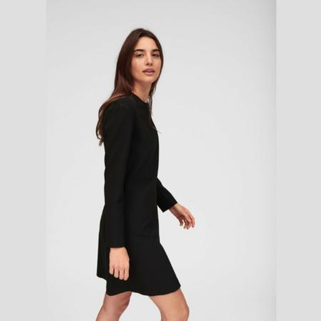 Tara Jarmon MID-LENGTH DOUBLE DRESS - Black
