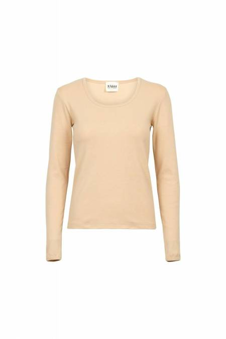 By Signe Rib Blouse - Nude