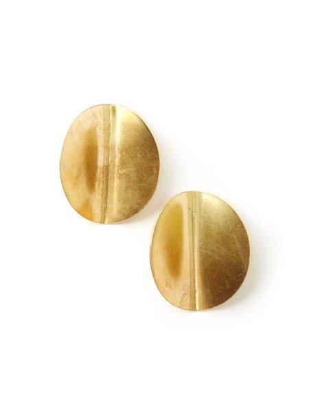 We Who Prey Folded Disc Earrings