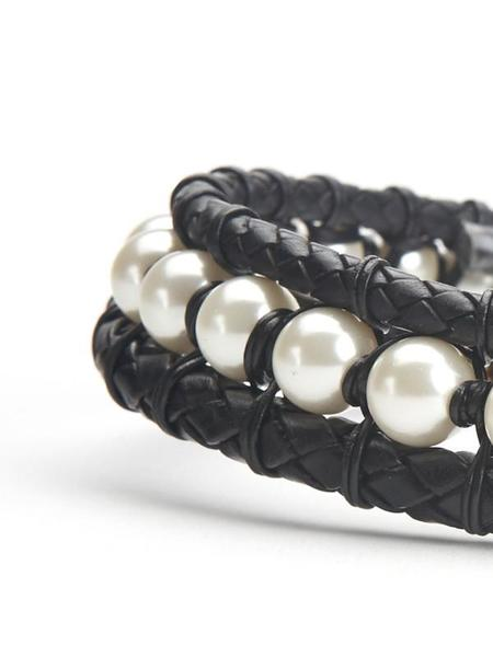 We Who Prey Pearls & Leather Collar