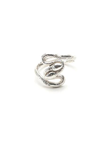 We Who Prey Twisted Snakes Midi Ring - STERLING SILVER