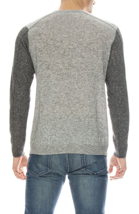 TODAY IS BEAUTIFUL / RON HERMAN Sweater with Contrast Sleeves - Drizzle/Charcoal