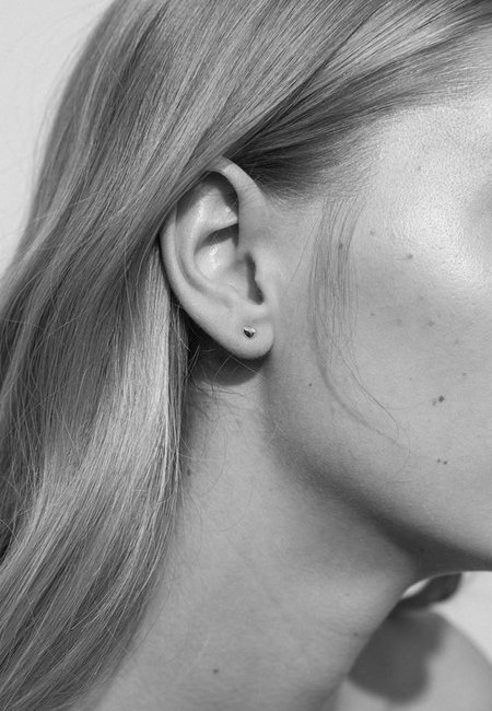 Meadowlark Micro Pebble Stud Earrings - Gold