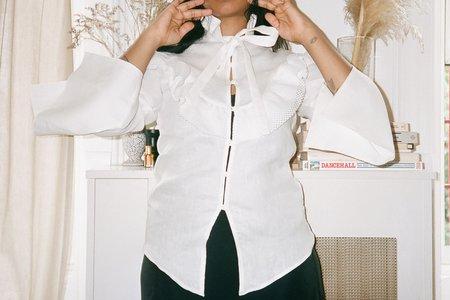 Kahle Ruffle Yoke Blouse - white