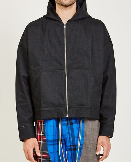 NORWOOD CHAPTERS DENIM HOODIE - WASHED BLACK