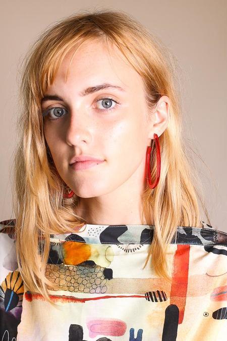 Rachel Comey Maya Earrings - Clear Red