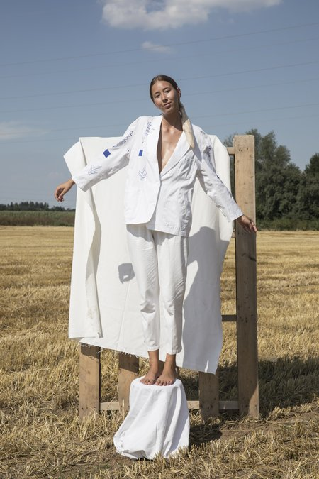 Projekt Eva Vintage Blazer - White