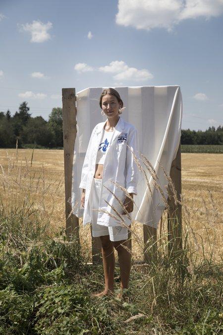 Projekt Eva Vintage Oversized Coat - White
