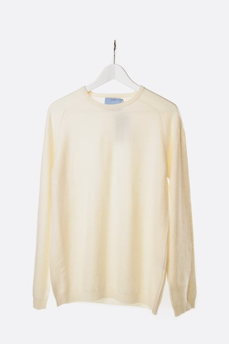 Unisex Oyuna Knitted Cashmere Pullover - Cream