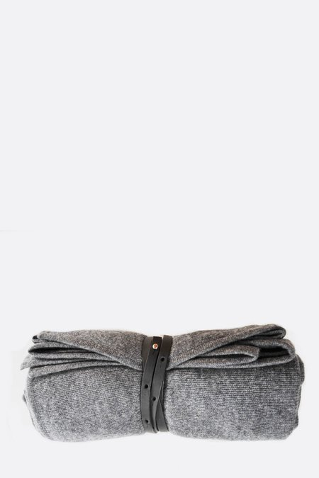 Oyuna Cashmere Travel Blanket/Wrap - Slate Grey