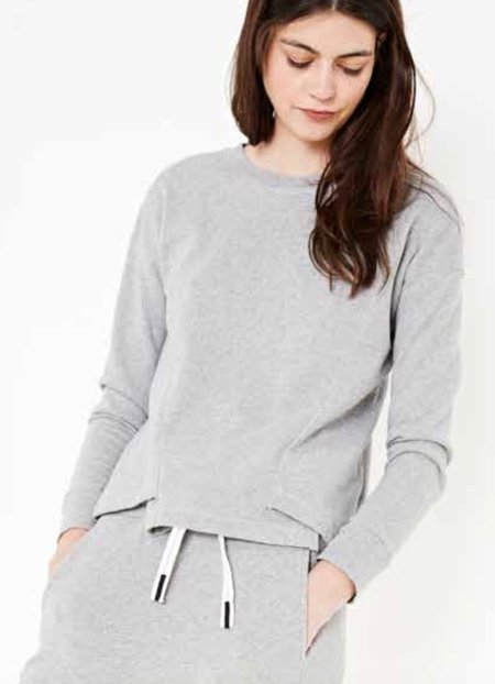 Stateside Asymmetric Hem Sweatshirt - Heather Grey