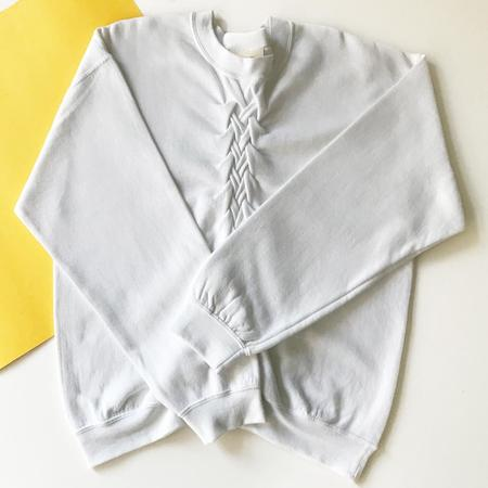 Slow and Steady Wins the Race Smocked Sweatshirt - White