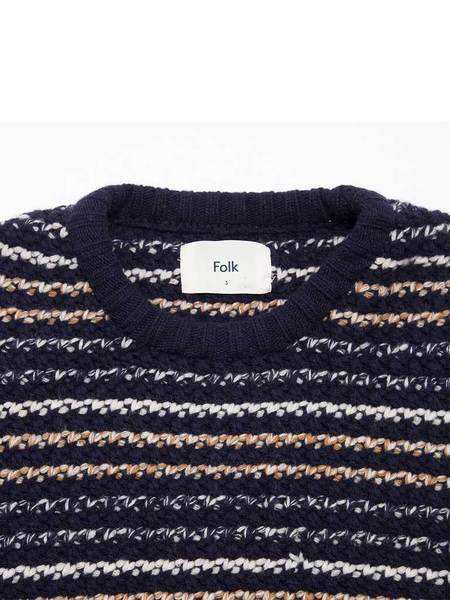 Folk Cryptic Crew Knit - Navy