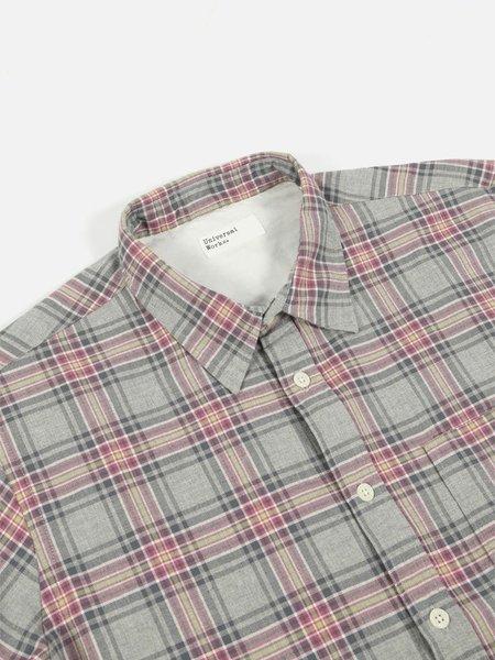 Universal Works 50s Check Standard Shirt - Grey