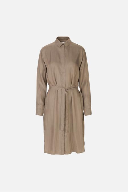 Samsoe & Samsoe Stella Shirt Dress - Timberwolf Check