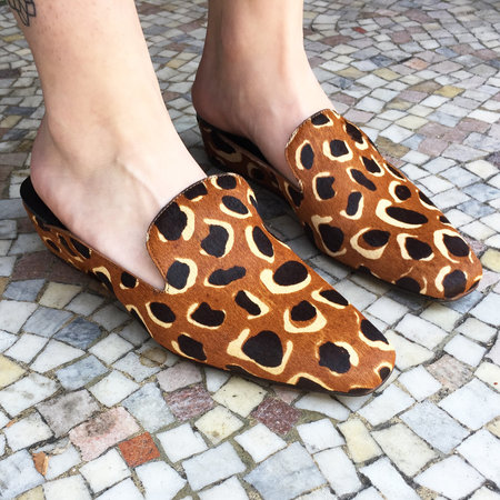 Rachel Comey Wald Wedge Loafer - Giraffe Haircalf