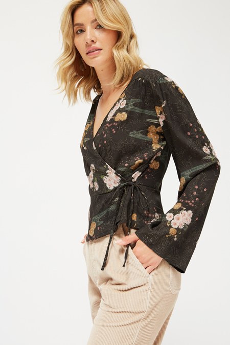 Lacausa Lena Top in Celeste Floral