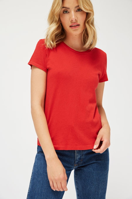 Lacausa Luxe Frank Tee in Apple