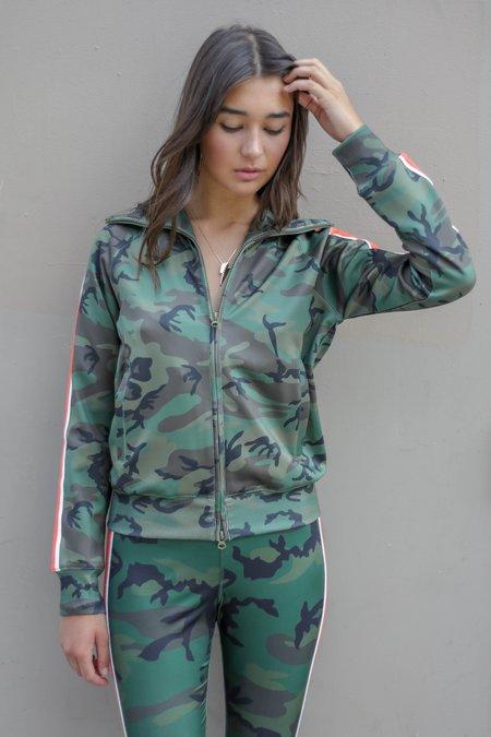 Pam & Gela Camo Track Jacket With Racing Stripe