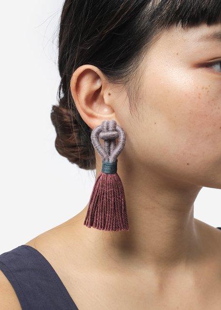 Talee Angsa Earrings - Truffle/Rosewood