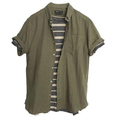 STITCHNOTE Gauze SS Shirt - Green