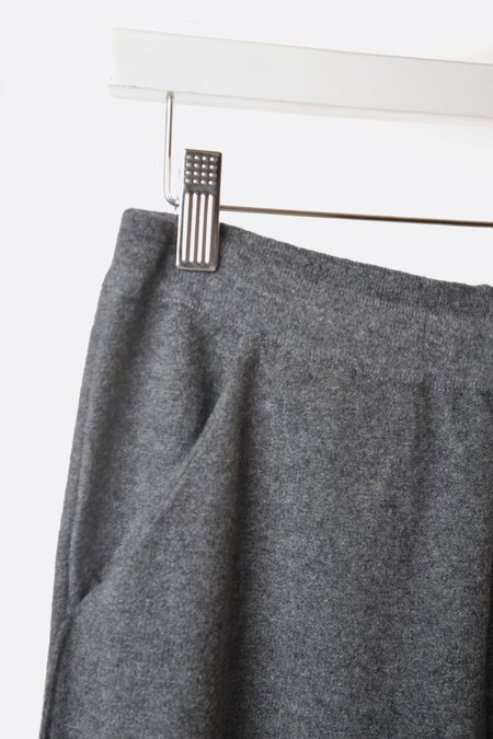 Unisex Oyuna Knitted Cashmere Pull on Pant - Slate Grey