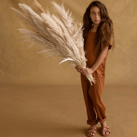 Kids Feather Drum Corey Jumpsuit - Cinnamon