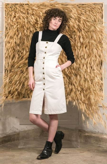 Rachel Antonoff Barbie Apron denim Dress - Ivory
