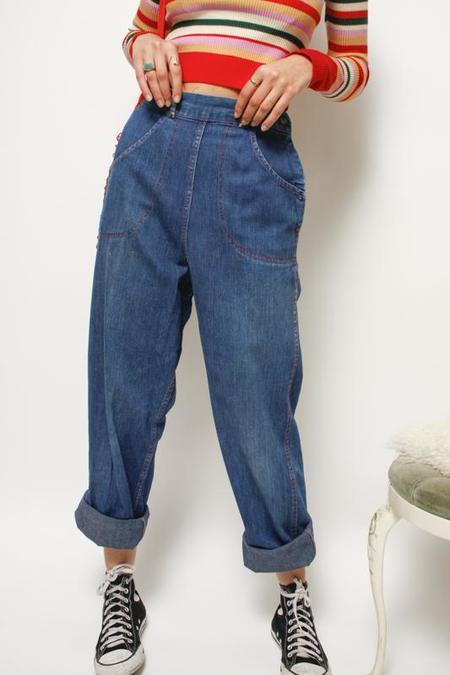 Cloak & Dagger Vintage 50's Ranch Jeans - Indigo Blue