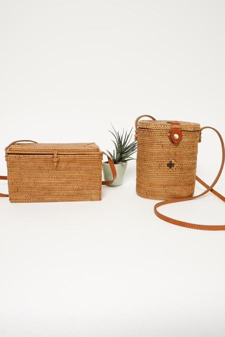 Cloak & Dagger Vintage Straw Box Bag