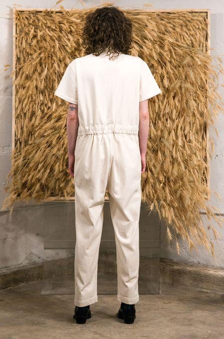 Caron Callahan Zip Foster Jumpsuit - Ivory Denim