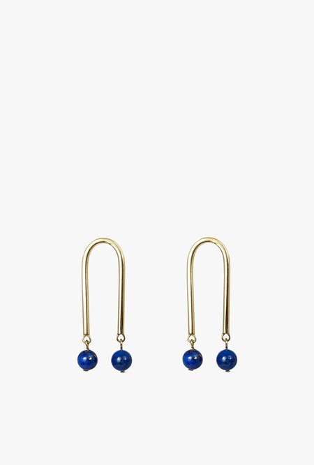 Artifacts Lapis Mini Arch Earrings - Lapis