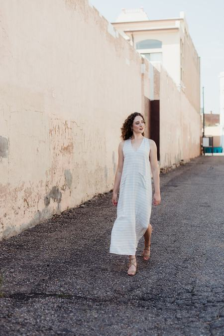 Lilya Nin Maxi Dress - Sand Stripe