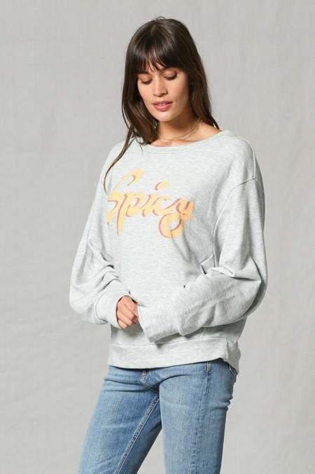 By Together Spicy Graphic Pullover - Heather Grey