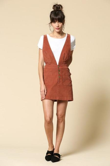 By Together Cordially Invited Overall Dress - Brick