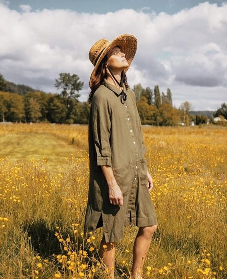 BEATON Raglan Coat Dress - Olive