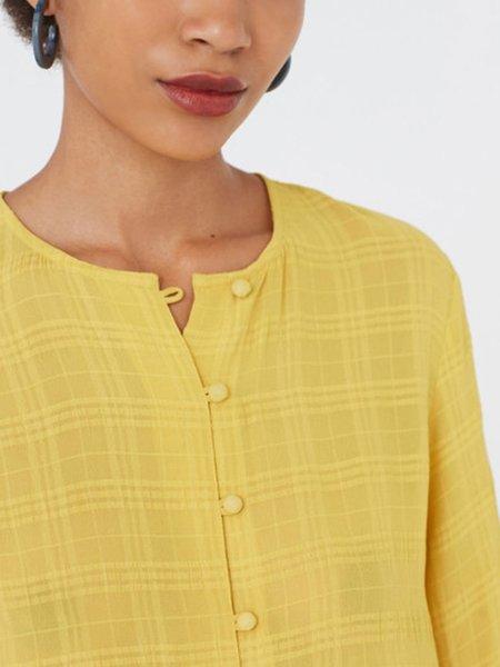 Nice Things Crepe Blouse - Mustard Yellow