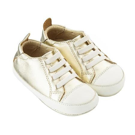 KIDS Old Soles Baby Eazy Tread Shoes - Gold/White