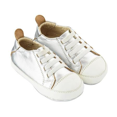 KIDS Old Soles Baby Eazy Tread Shoes - Silver/White