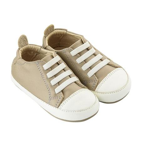 KIDS Old Soles Baby Eazy Tread Shoes - Taupe Brown/White