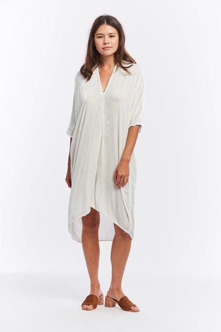 Miranda Bennett Velvet Muse Dress - White